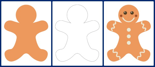 Gingerbread Man Templates - Gift of Curiosity