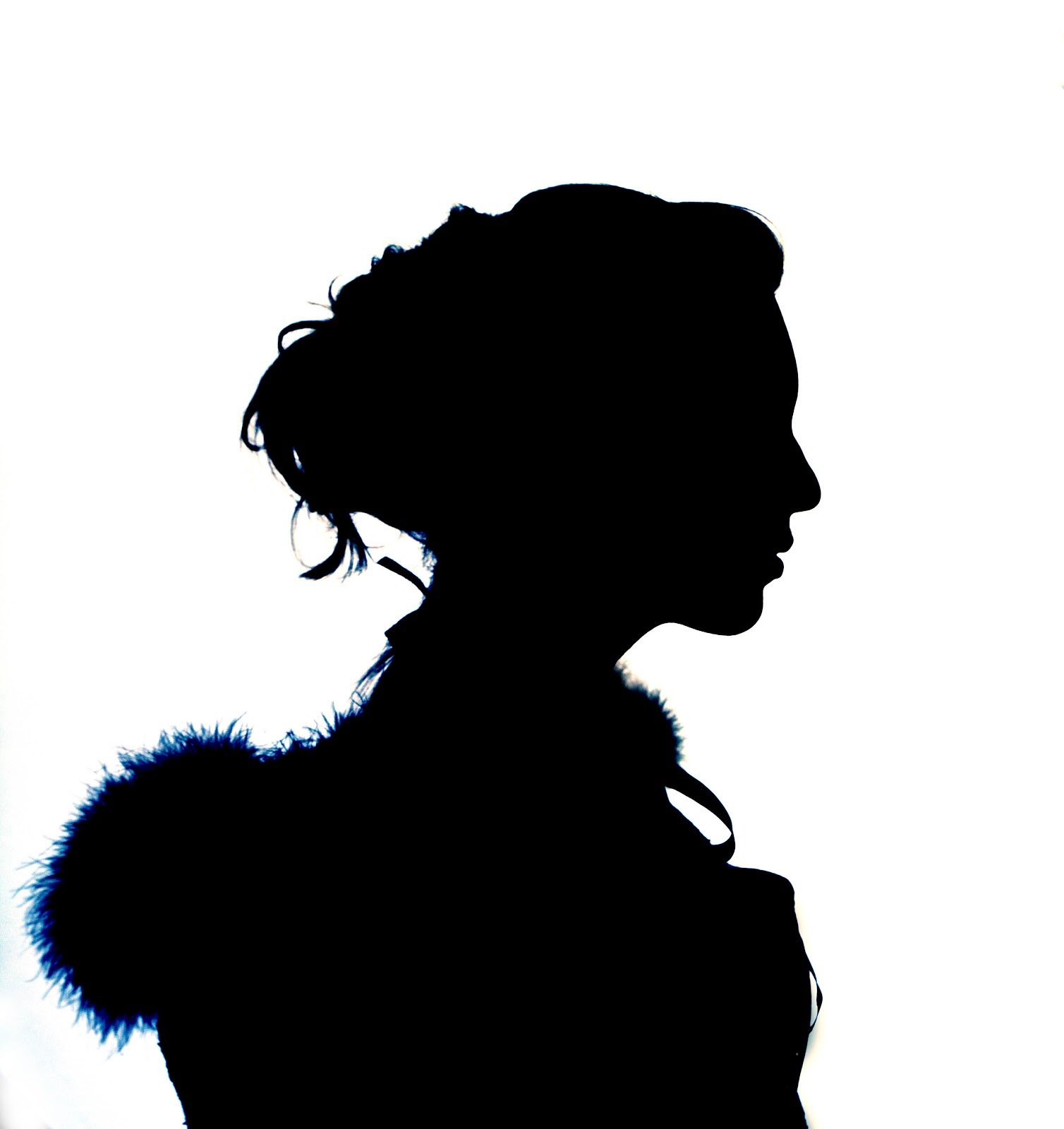 Woman Profile Silhouette - Cliparts.co