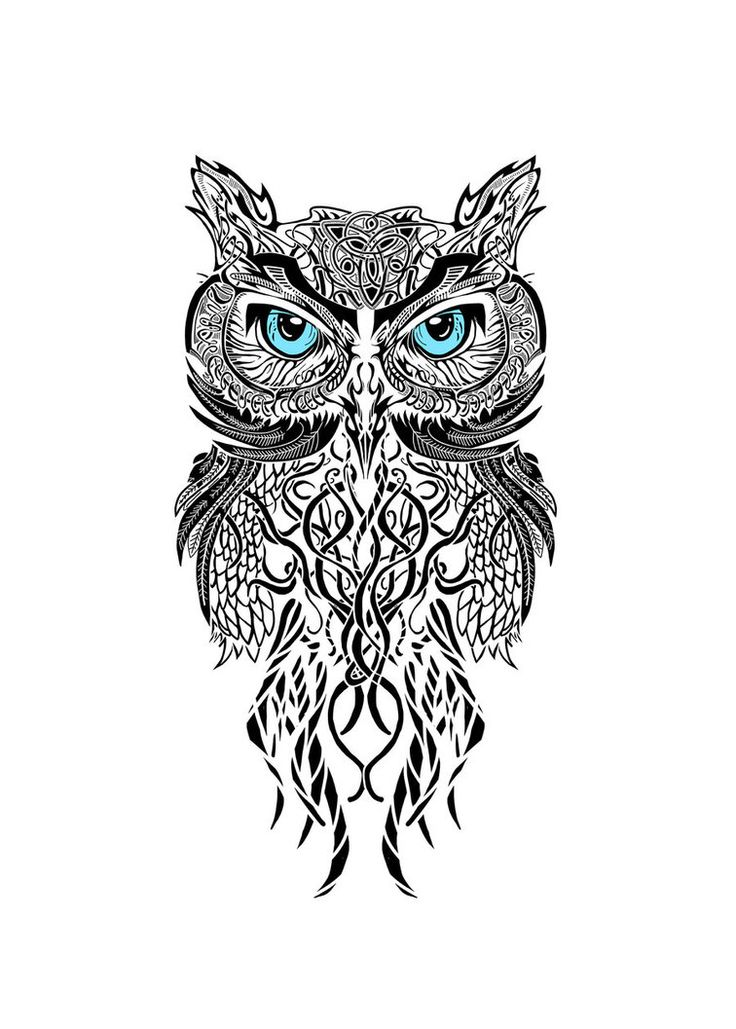 black and white owl this would be awesome as a tattoo between the ...