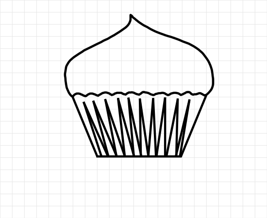 Cupcake Image Outlines - ClipArt Best