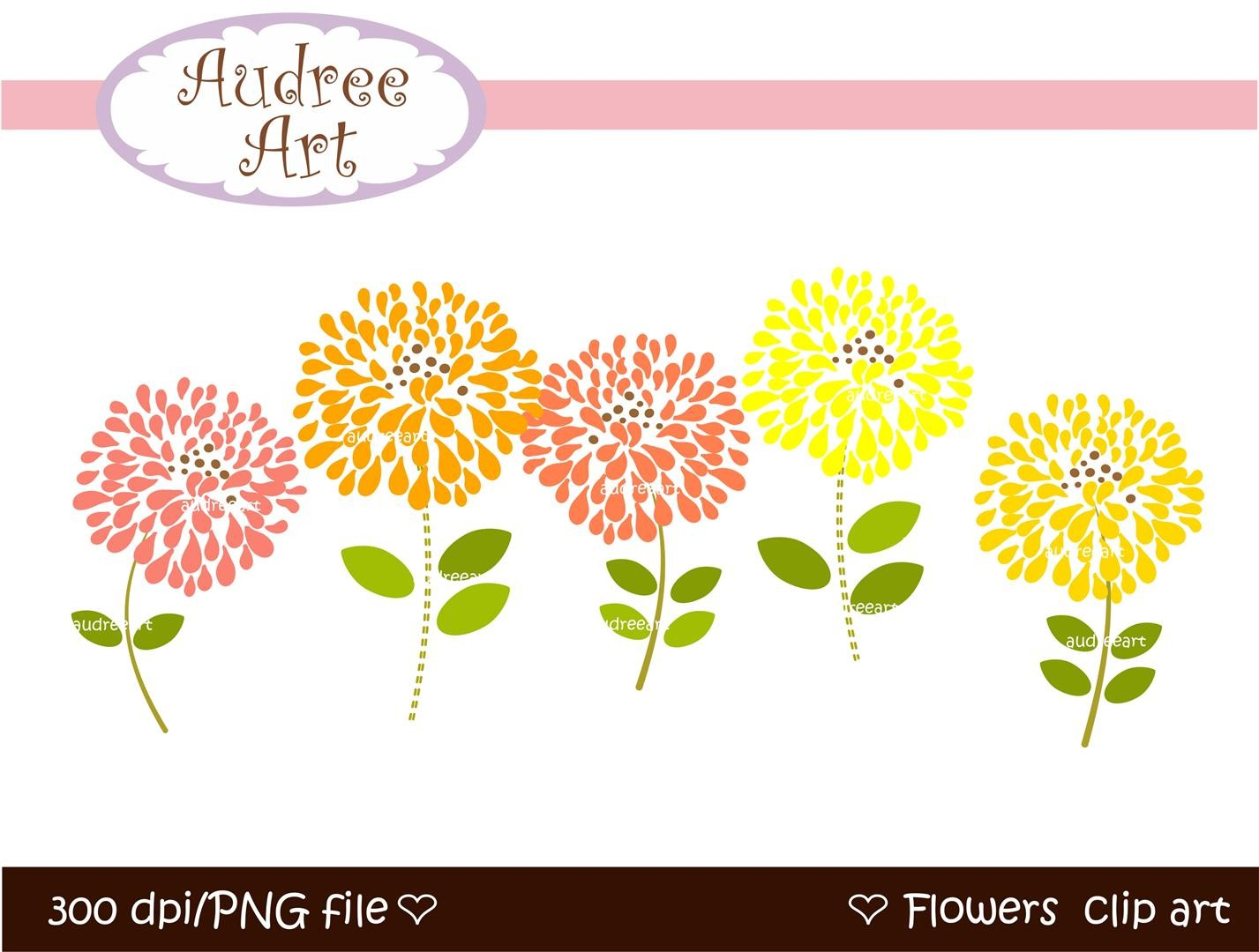 Birthday Flowers Clip Art Cliparts