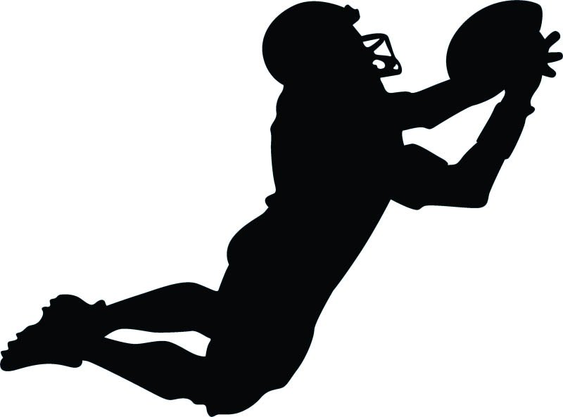Silhouette Football Player Cliparts Co