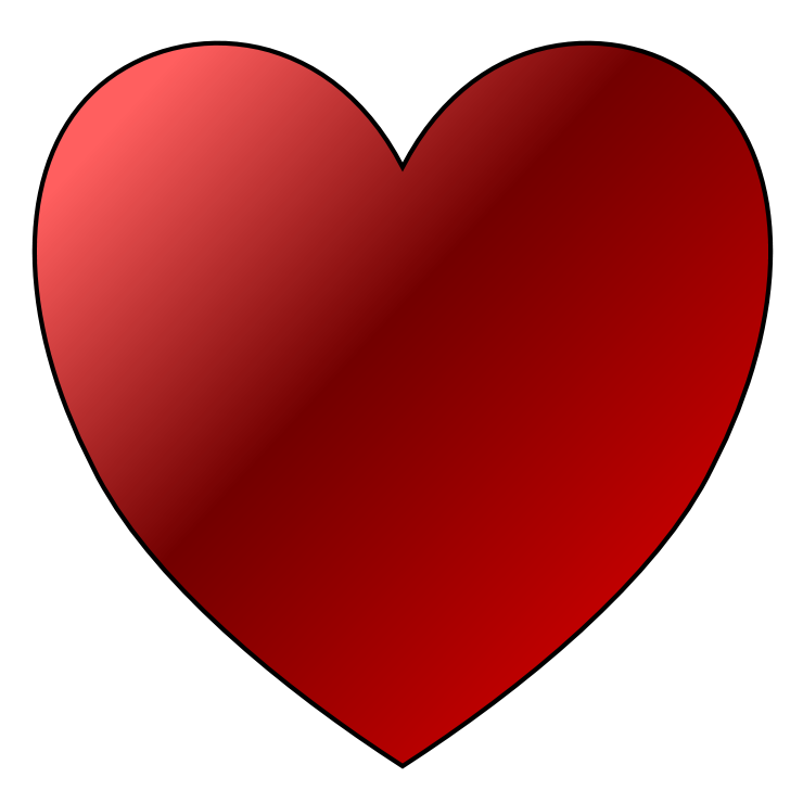 Clip Art Red Heart - Cliparts.co