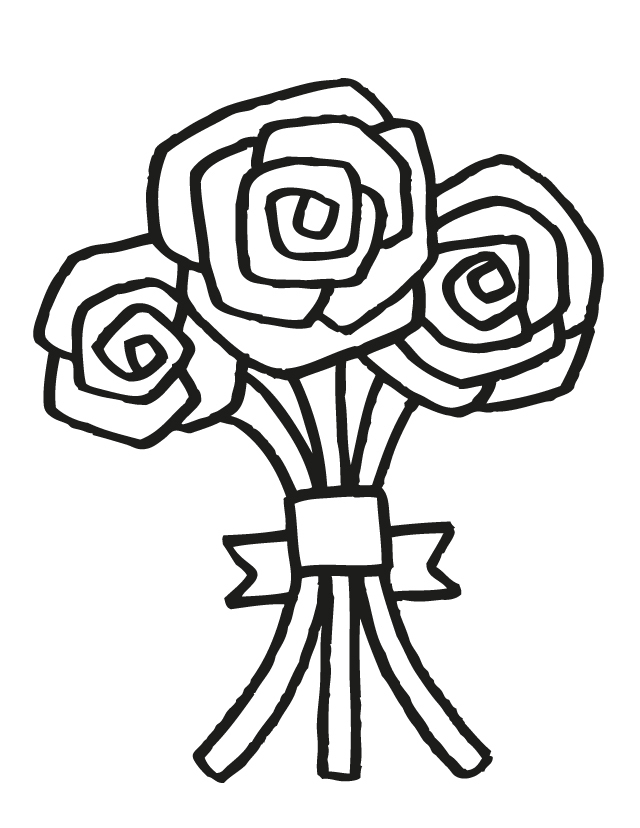 cartoon wedding flowers