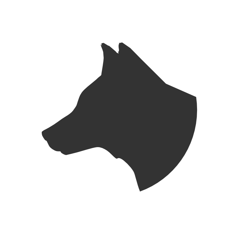 Dog head silhouette png - photo#3