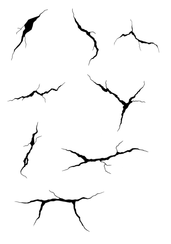 Hand-drawn Cracks Photoshop Brushes Part I | All Things ...
