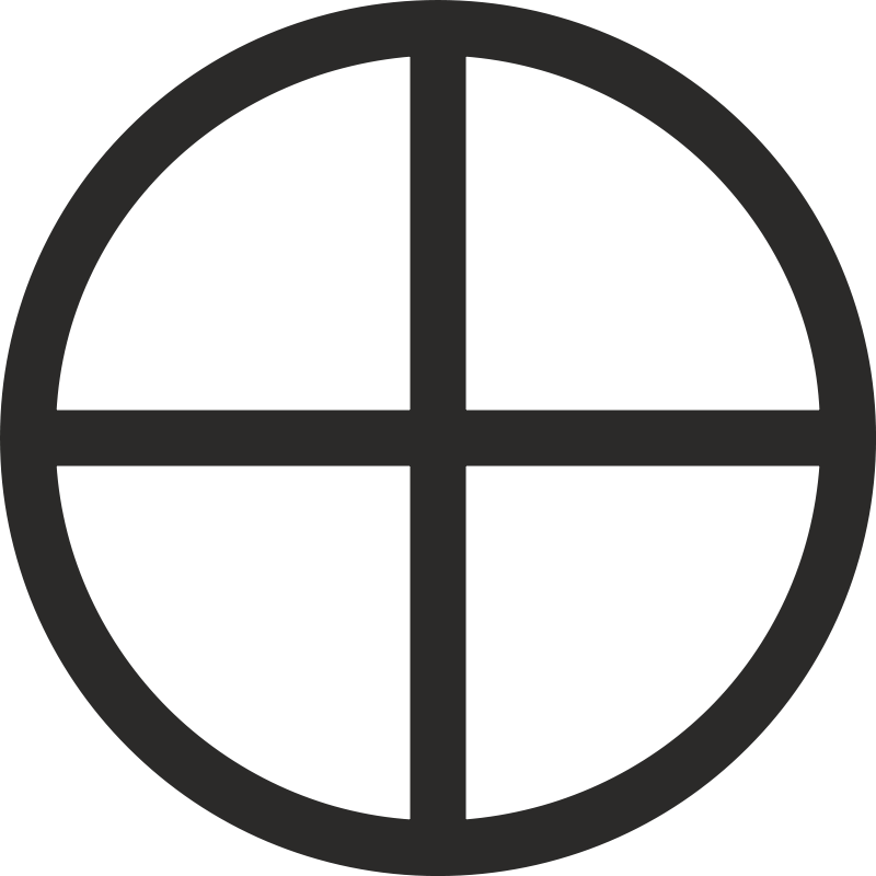 Mundane Cross Encircled Free Vector / 4Vector
