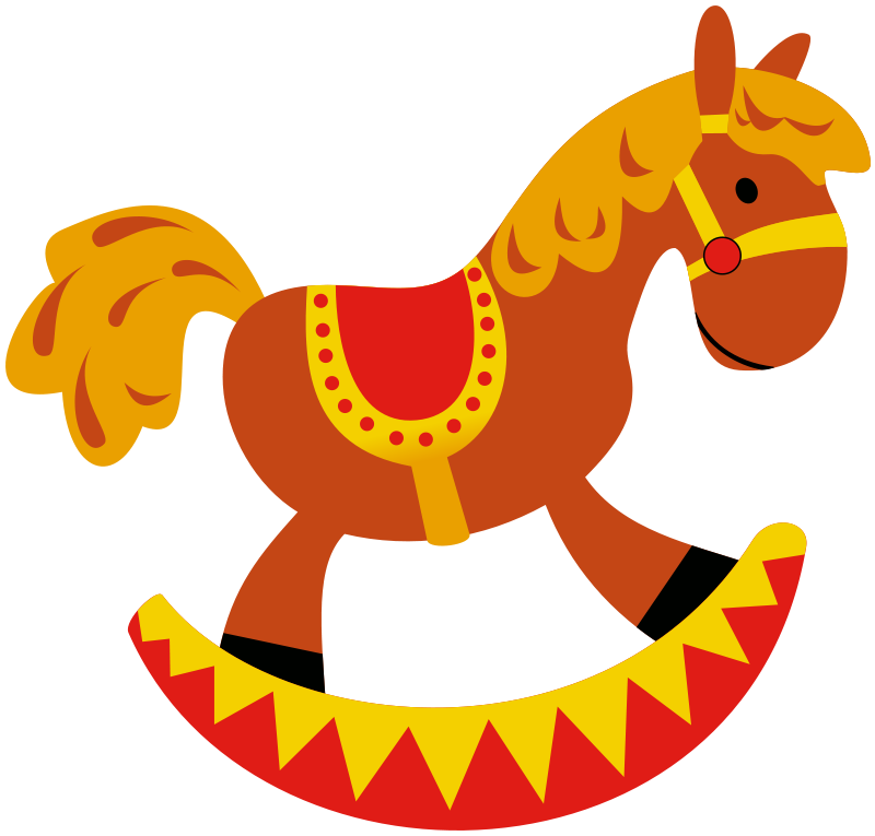 Free to Use & Public Domain Rocking Horse Clip Art