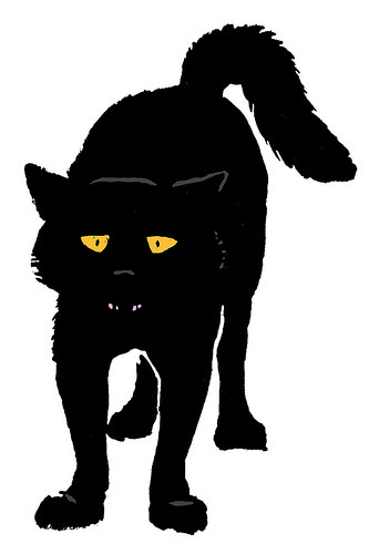 clipart scared cat - photo #43