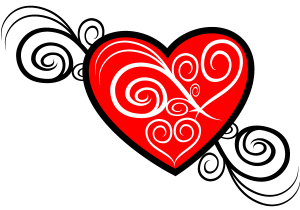 Heart Vector Image Tribal Style | Download Free Vector Graphic ...