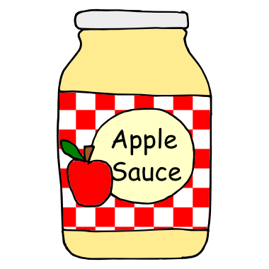 applesauce black and white clipart rh worldartsme com  applesauce clipart free