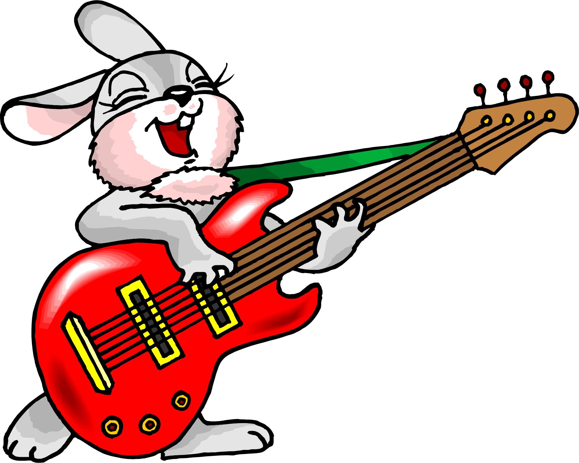 cartoon playing guitar