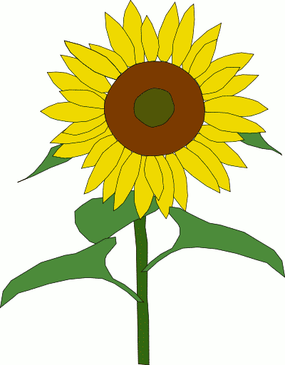 free black and white clip art sunflowers - photo #11