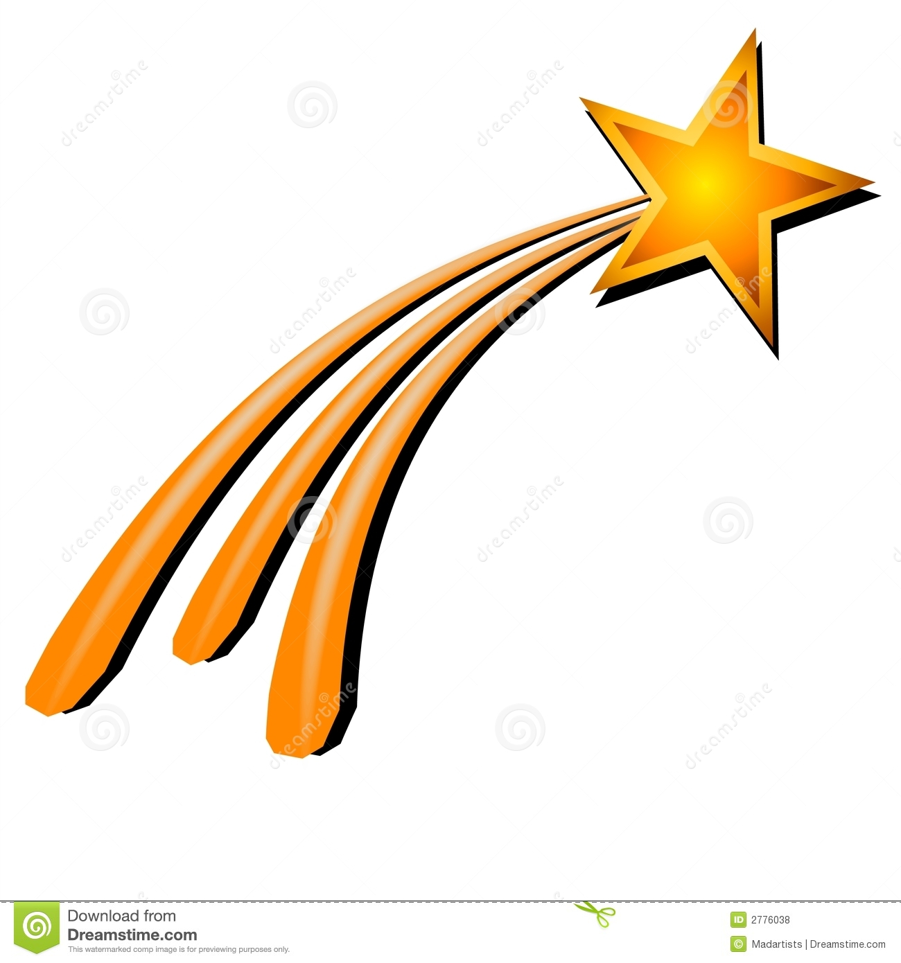 Clip Art Of Shooting Stars - Cliparts.co