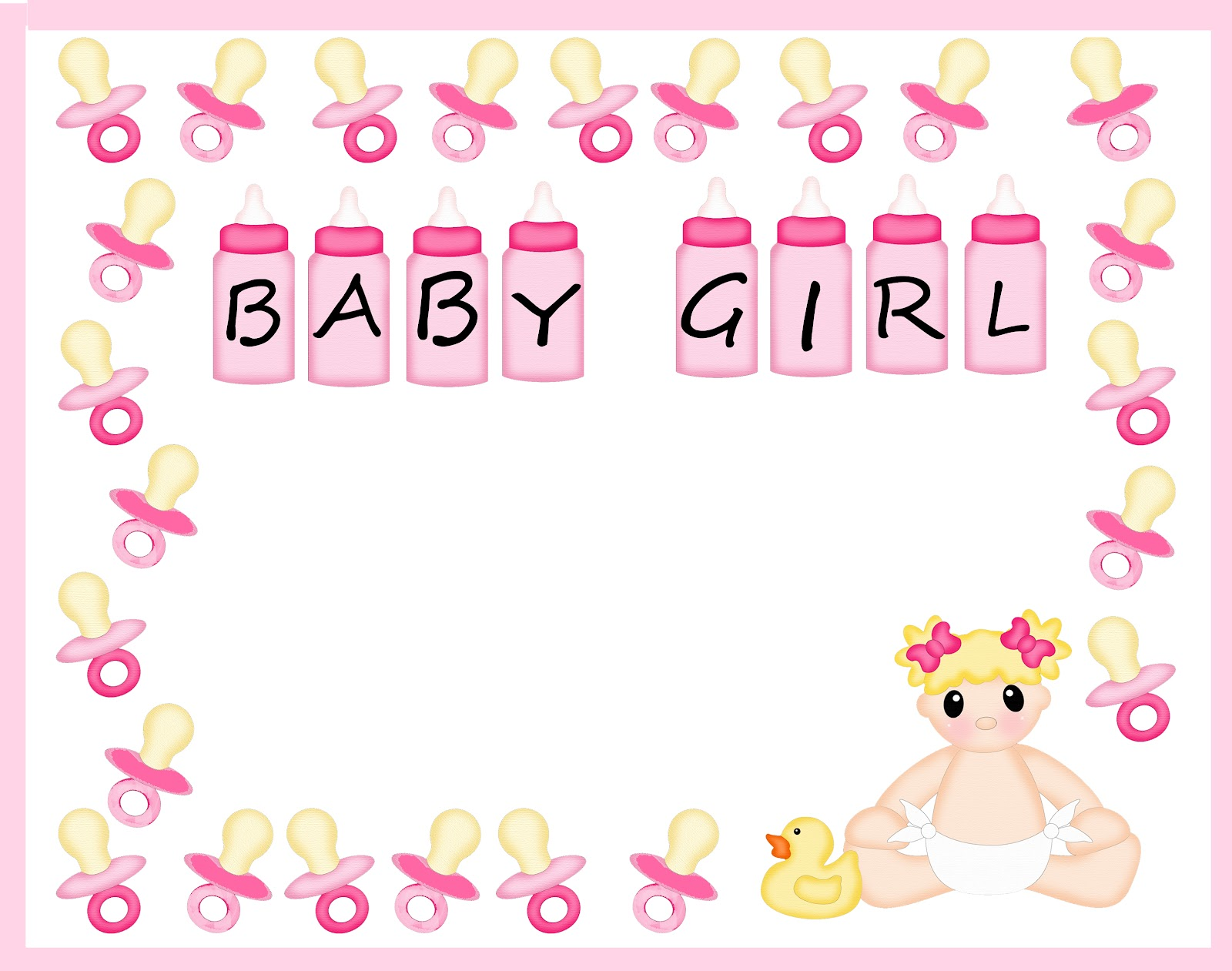 pix for baby shower borders free