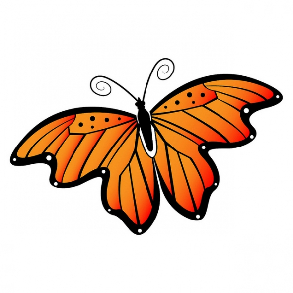 Flying Butterfly Clip Art - ClipArt Best - Cliparts.co