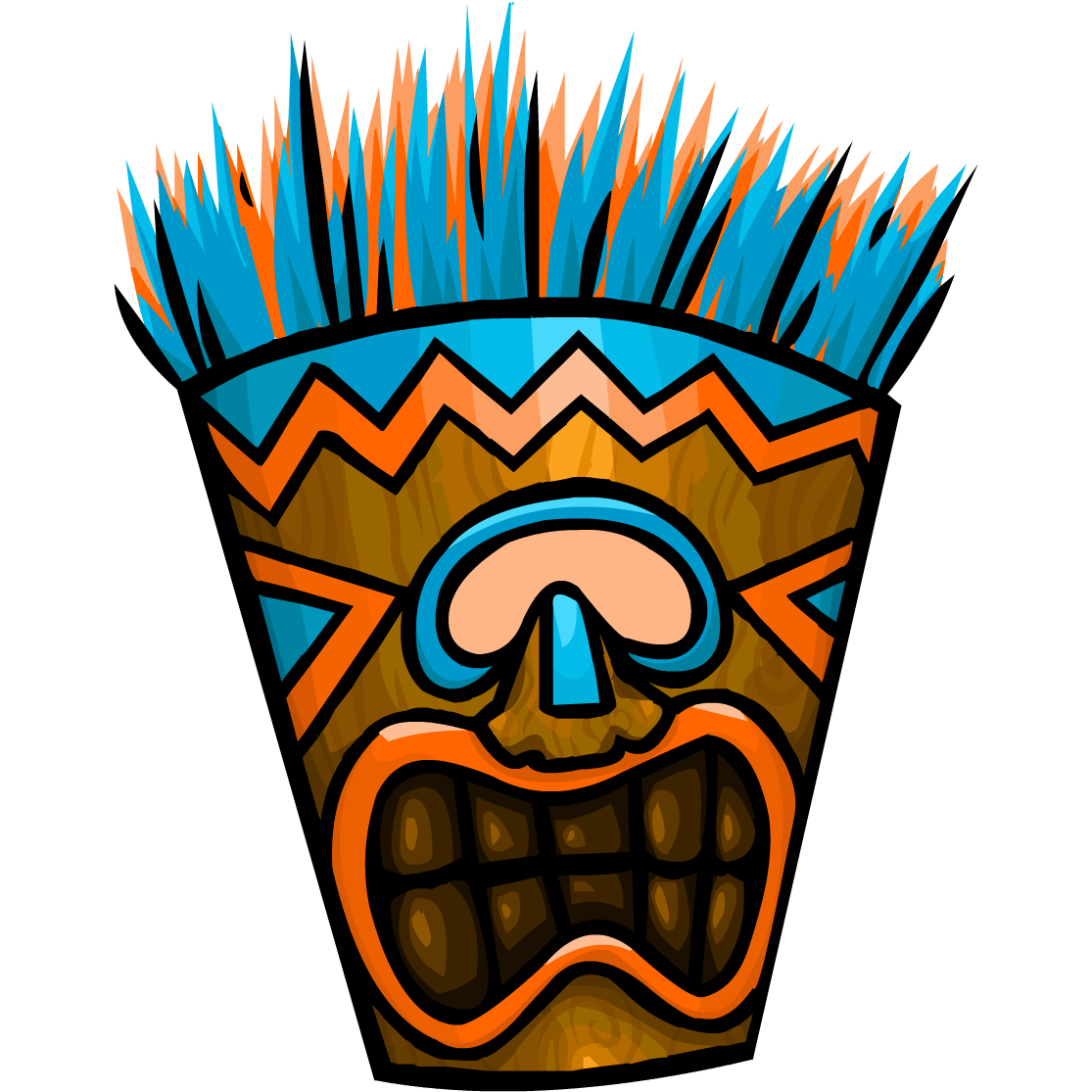 how to make a tiki mask