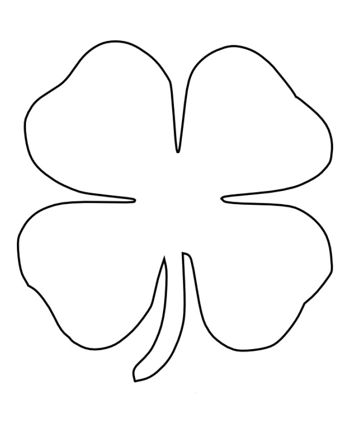 Download Four Leaf Clover Coloring Pages Or Print Four Leaf Clover ...