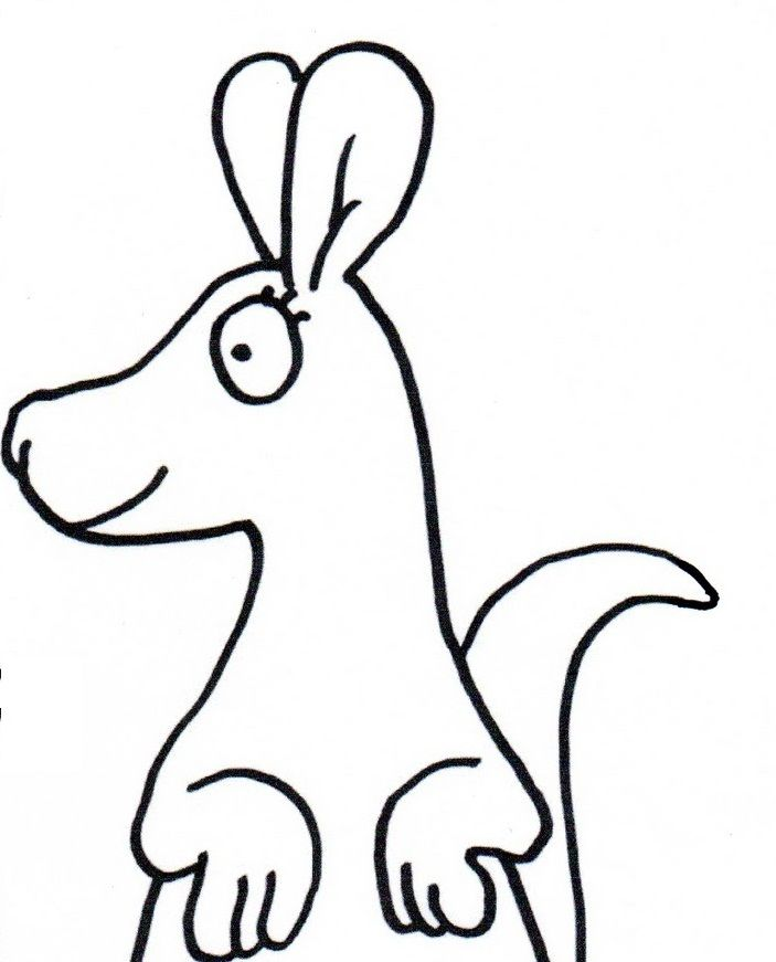 Kangaroo Pictures To Color Cliparts Co