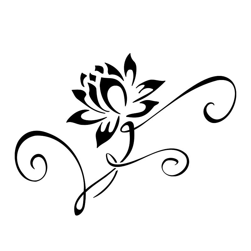Flower Tattoos Black And White - Cliparts.co
