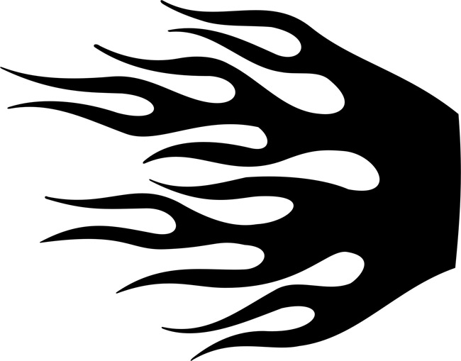 Ridiculous image intended for flame stencils free printable