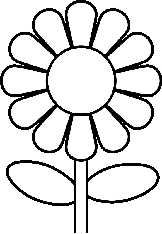 Daisy flower template for Daisy cut out template