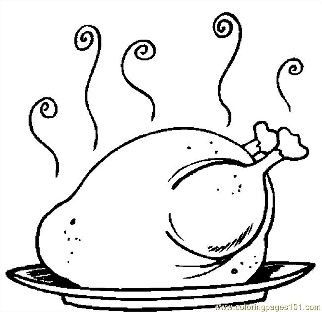 Cooked Turkey Drawing
