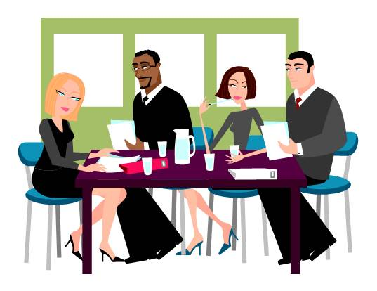 employee meeting clipart - photo #19