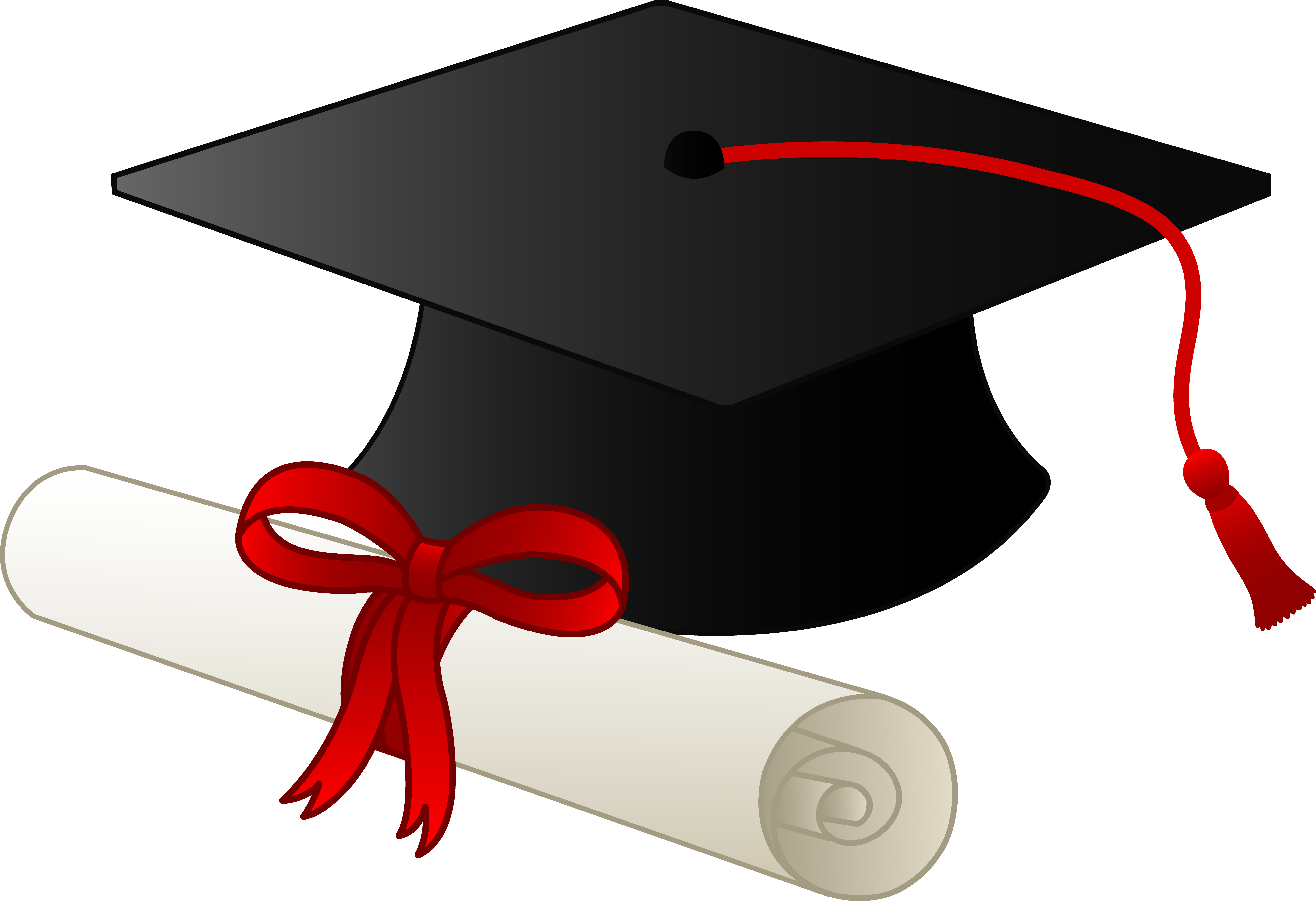 Graduation Cap And Diploma image - vector clip art online, royalty ...