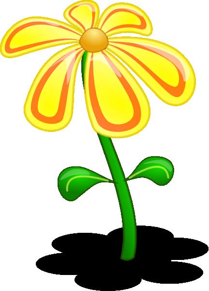 Yellow Flower clip art - vector clip art online, royalty free ...