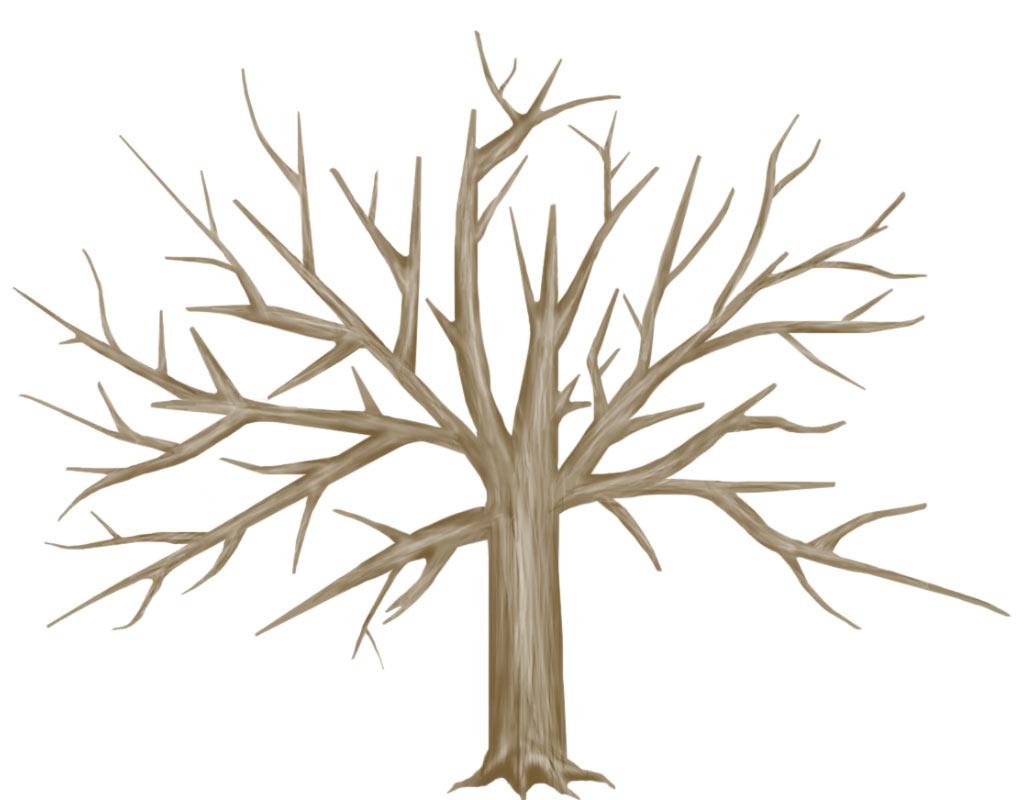 bare fall tree clip art - photo #21