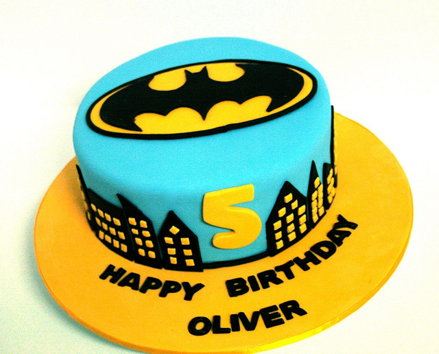 Batman Logo Birthday Cake
