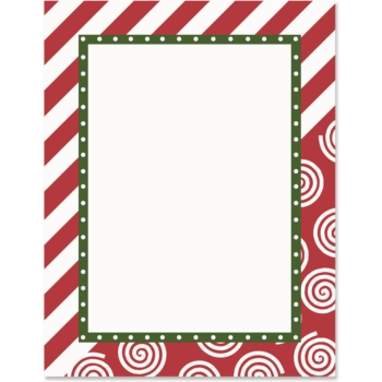 Candy Cane Lane PaperFrames™ Christmas Border Papers