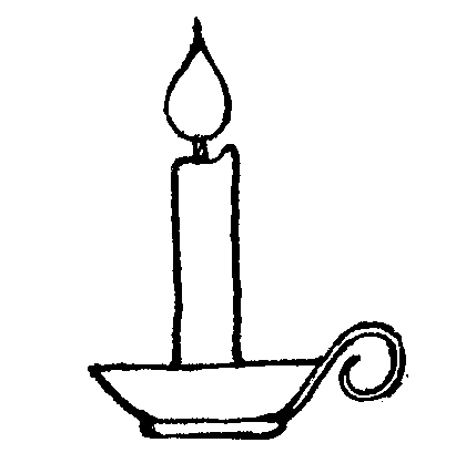 Birthday Candle Clip Art Black And White | Clipart Panda - Free ...