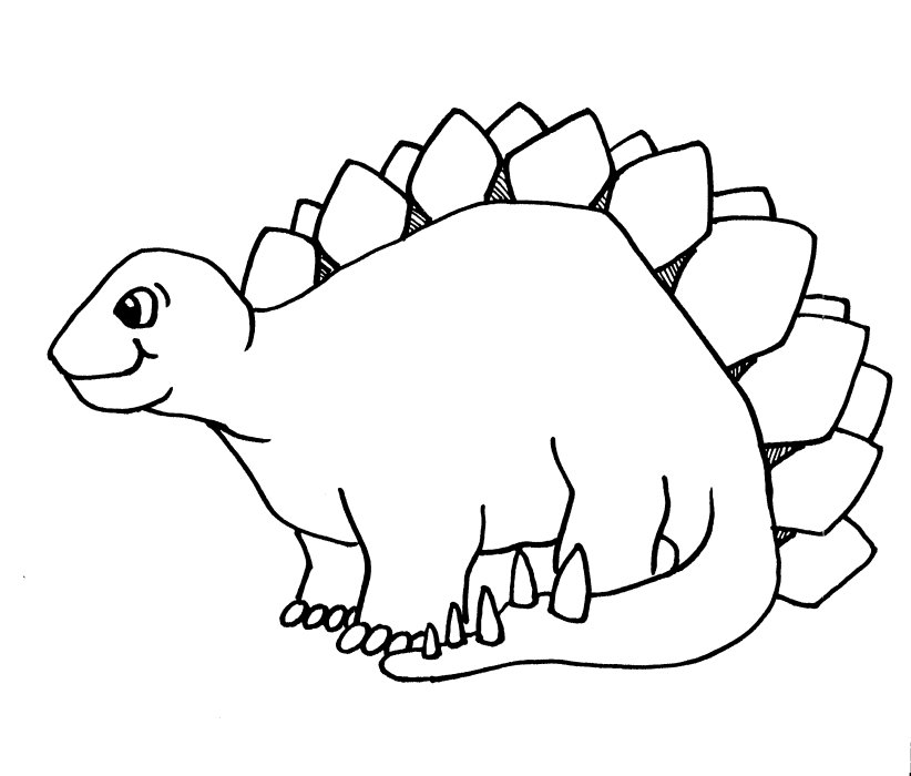 dinosaur clip art outline - photo #15