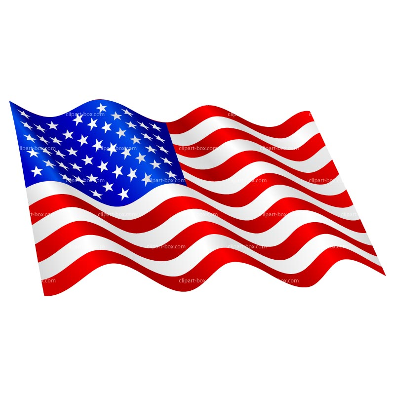 free animated clip art american flag - photo #4
