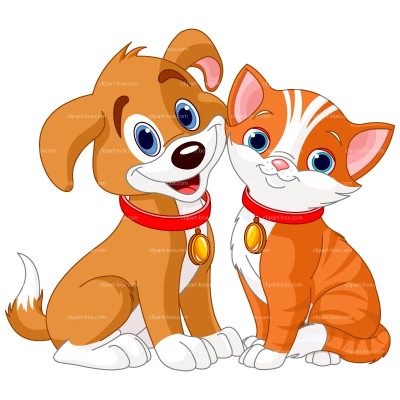 free clipart of dog and cat together - photo #5