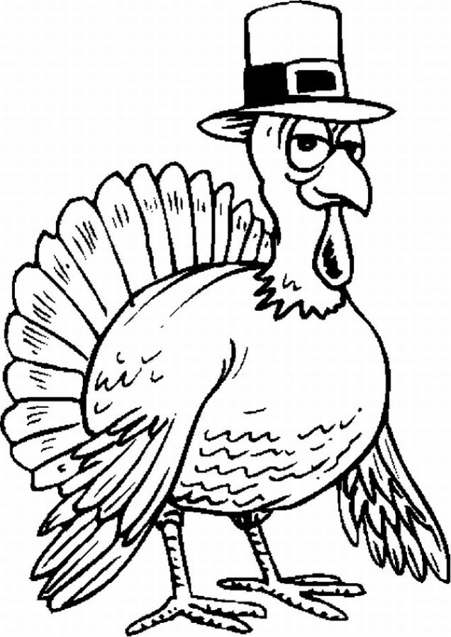 Thanksgiving Coloring Pages Turkey Coloring Pages