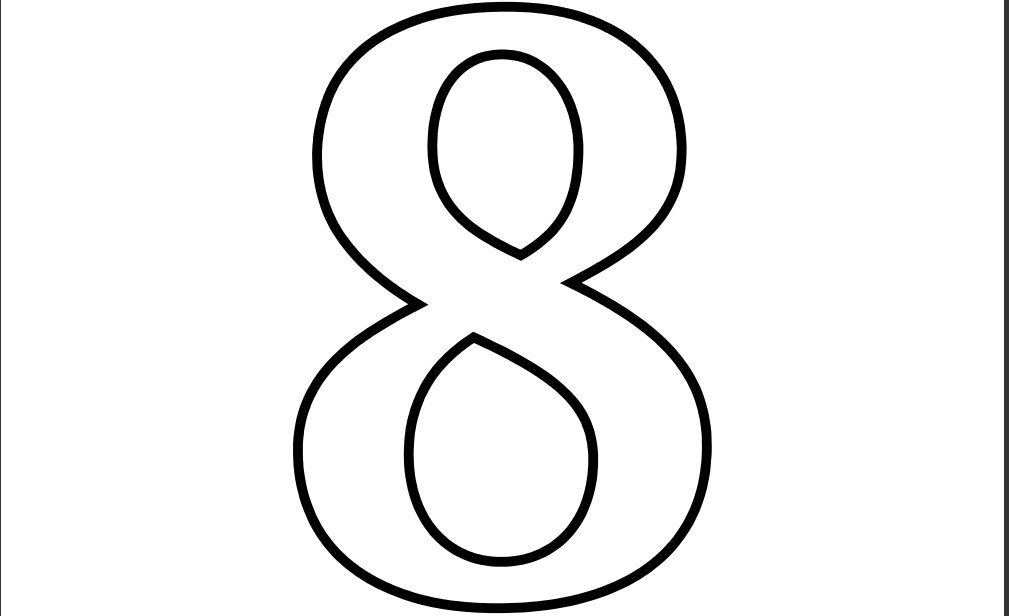 Number 8 Clipart Black And White 1-10 Coloring Pages For Basic