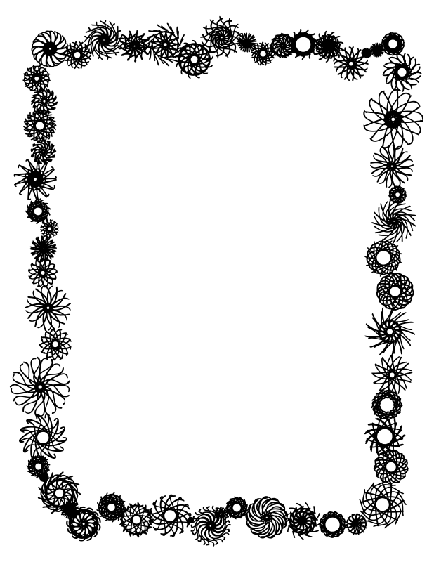 Black And White Flower Border Clipart Clipart Panda Free ...