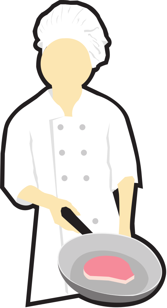 File:Chef cooking clip art.svg - Wikimedia Commons