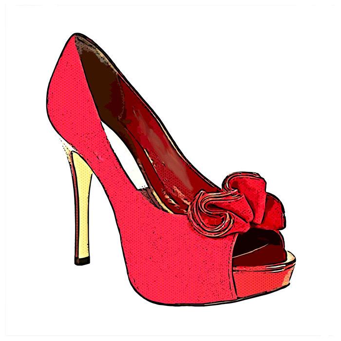 187cb41d6 High Heel Clip Art. red bow high heel shoe womens fashion by  DigitalGraphicsShop