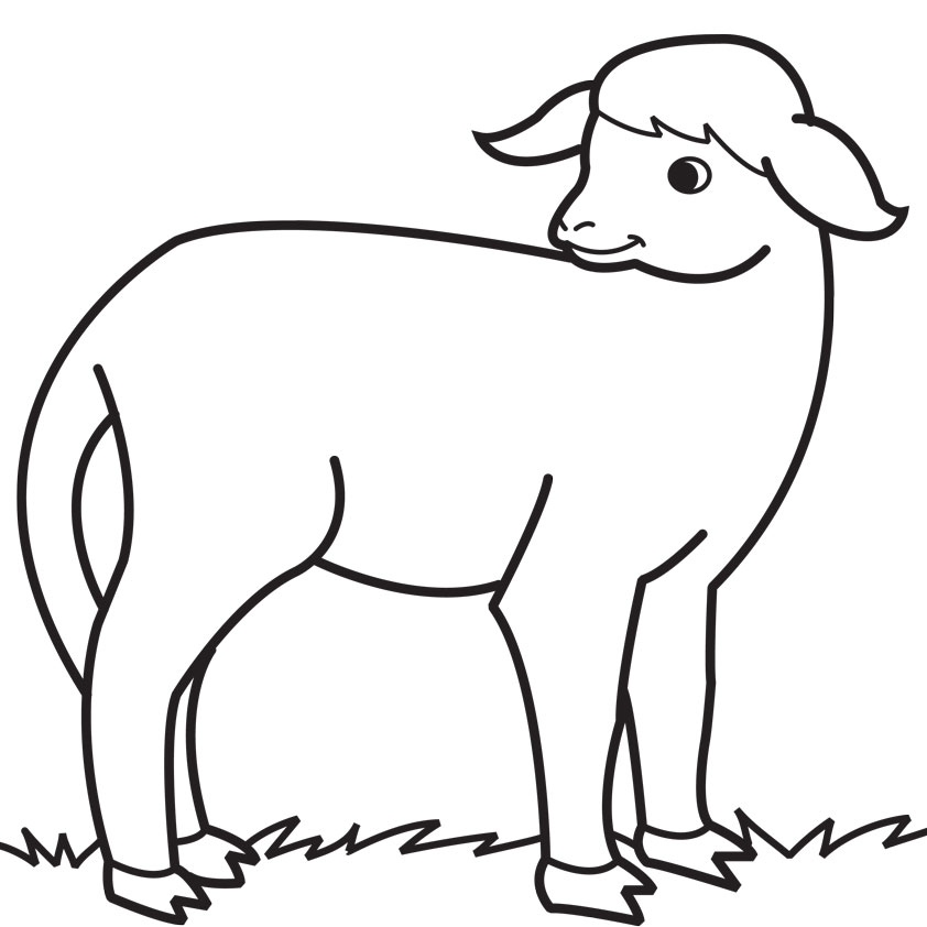 dog and lamb coloring pages - photo#31