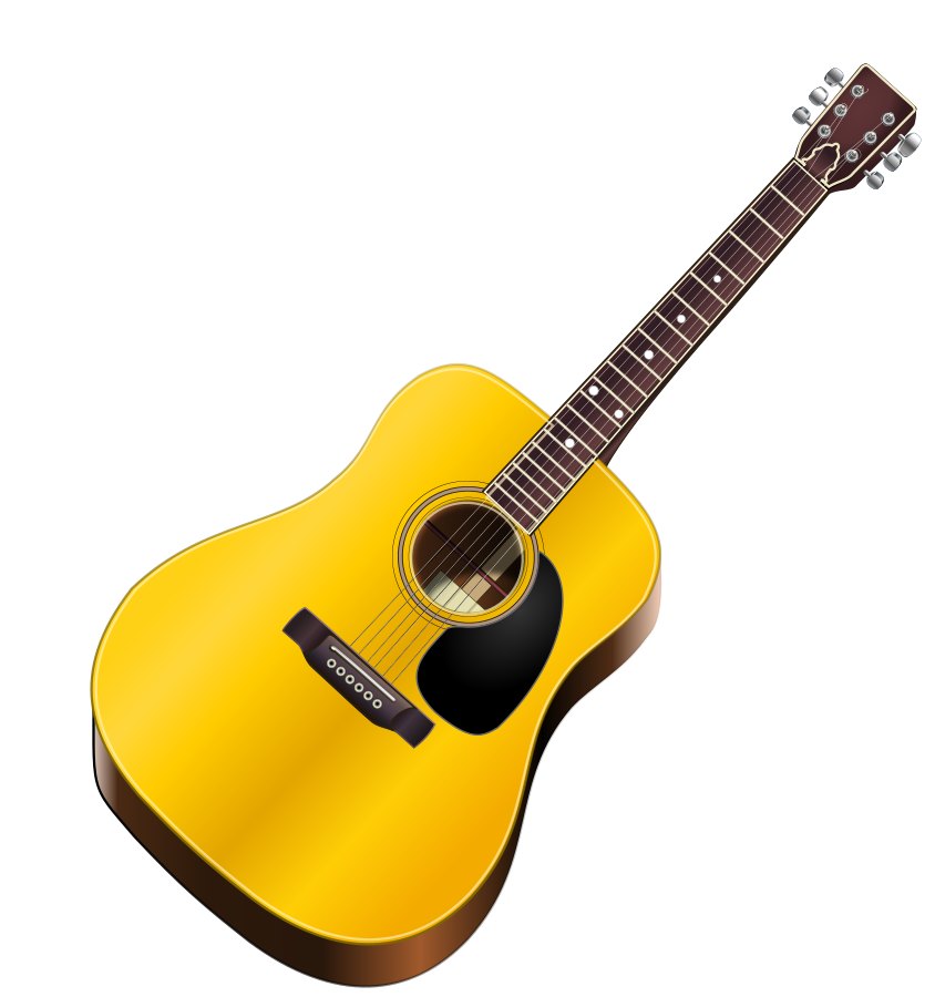 Free Clip Art Acoustic Guitar