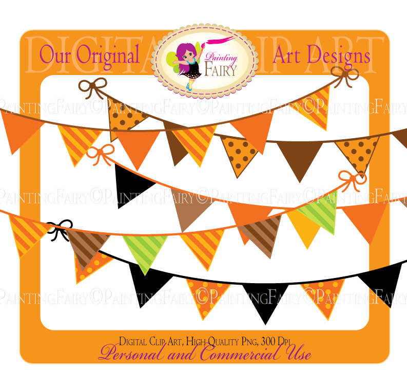 Popular items for clip art pennant on Etsy