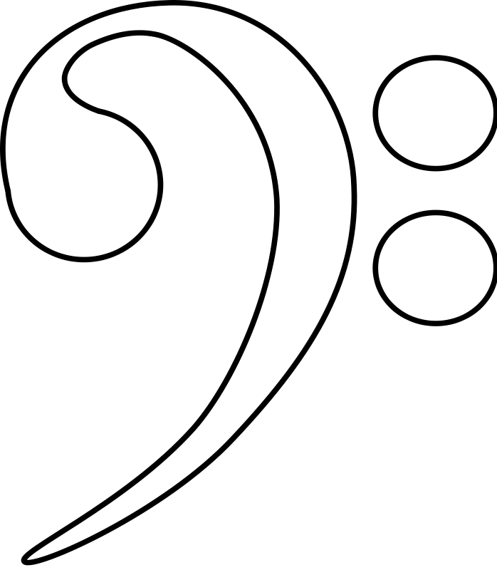 Bass Clef Coloring Page