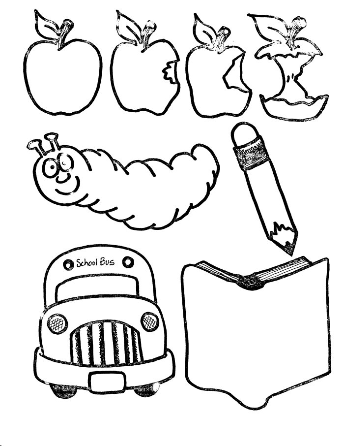 free art supply coloring pages | School Supplies Clip Art - Cliparts.co