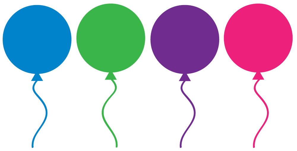Free Birthday Balloons Clipart for party decor, websites, signs ...