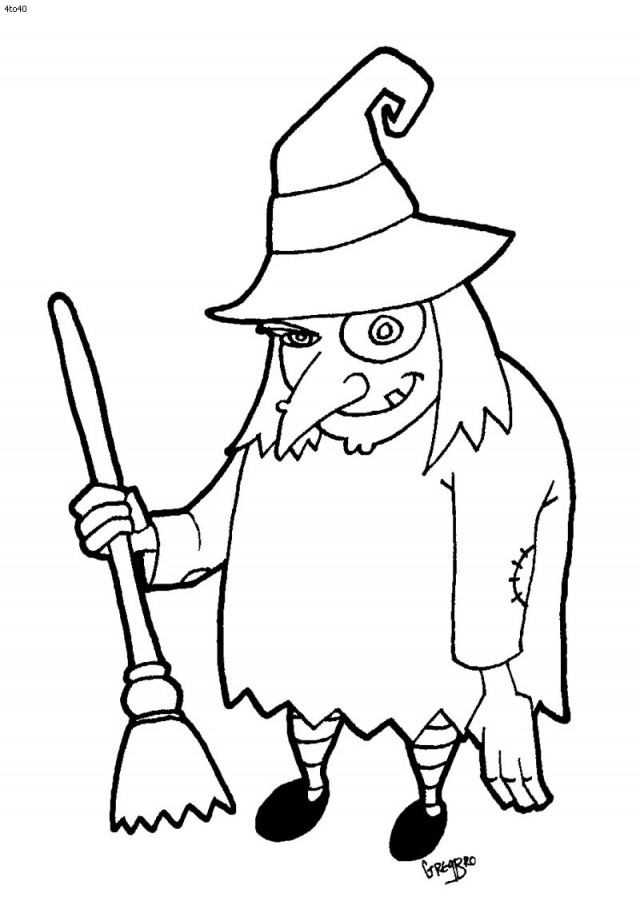 halloween black coloring pages - photo#11