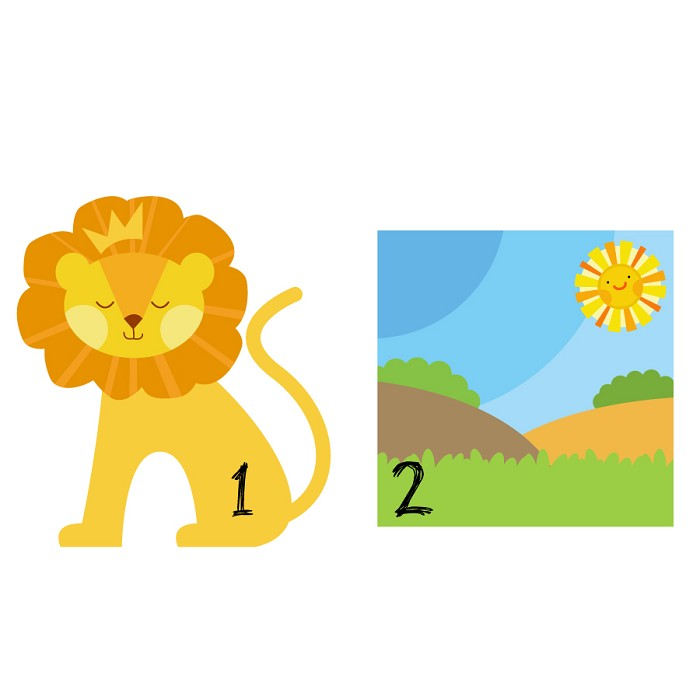 King of the Jungle - Cute Lion Digital Clipart - Commercial and ...